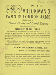 Advert for WC Volckman's jams